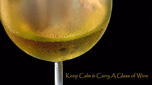 Wine Art Print featuring the photograph Keep Calm And Carry A Glass Of Wine by Kathie McCurdy