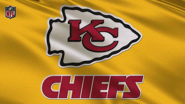 Kansas City Chiefs Uniform Art Print by Joe Hamilton