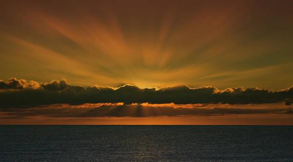 Amazing Sunrise Art Print featuring the photograph Amazing by Angel Martinez