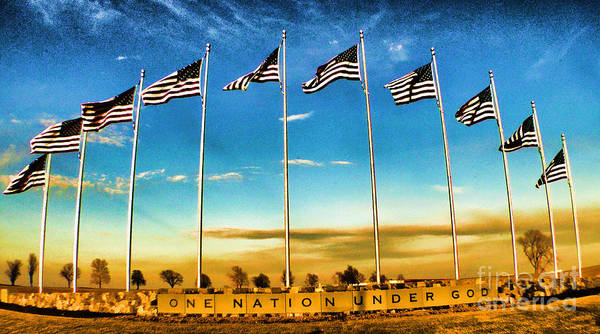Flag Still Standing Art Print featuring the photograph American Flag - Independence Day by Luther Fine Art