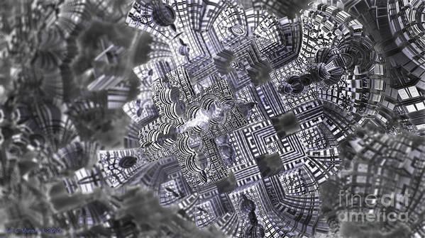 Fractal Art Print featuring the digital art At The Crossing by Jon Munson II