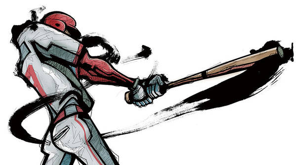 Image result for baseball player superhero drawing