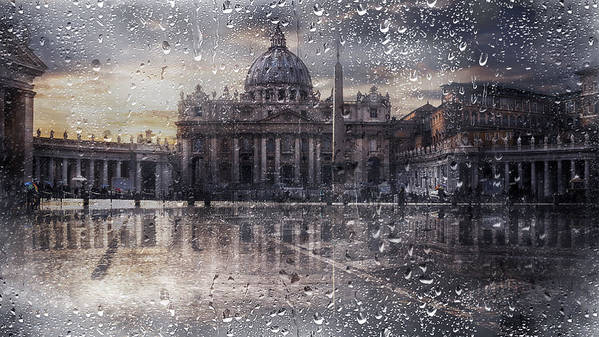 Basilica Di San Pietro Art Print featuring the photograph Basilica Di San Pietro by Nicodemo Quaglia