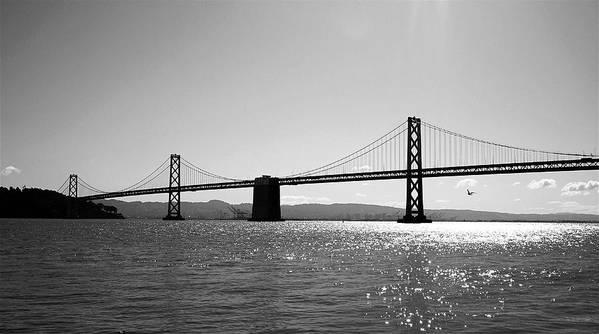 Bay Bridge Art Print featuring the photograph Bay Bridge by Rona Black
