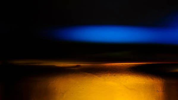 Abstract Art Print featuring the photograph Black Blue Yellow by Bob Orsillo