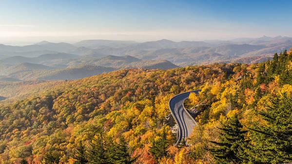 Blue Ridge Parkway Art Print featuring the photograph Blue Ridge Parkway In Peak Autumn Colors by Pierre Leclerc Photography