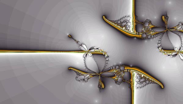 Art Print featuring the digital art Broken Jewelry-fractal Art by Lourry Legarde