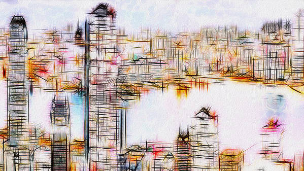 City Art Print featuring the painting City By The Bay by Jack Zulli