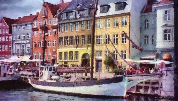 Scandinavia Art Print featuring the painting Copenhagen by Jeff Kolker