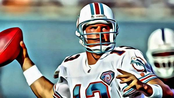Dan Marino Art Print featuring the painting Dan Marino by Florian Rodarte