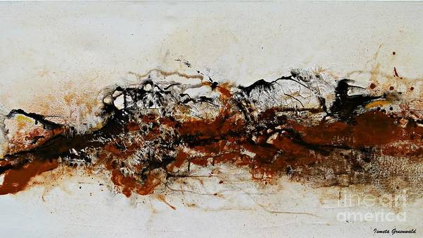 Original Print featuring the painting Die Trying1 - Abstract Art by Ismeta Gruenwald