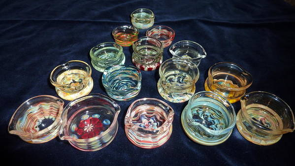 Glass Dabber Art Print featuring the glass art Dishes by Glass Dabber