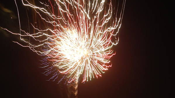 4th Of July Art Print featuring the photograph Firework Burst by April Lerro
