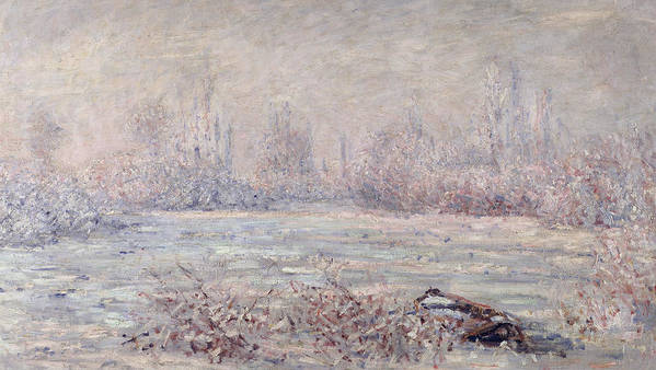 Impressionist Art Print featuring the painting Frost Near Vetheuil by Claude Monet