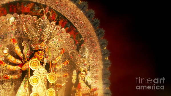 Goddess Art Print featuring the photograph Goddess Durga by Prajakta P