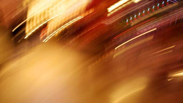 Abstract Art Print featuring the photograph Golden Blur by Michele Stoehr