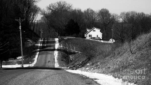 Rural America Print featuring the photograph Hilly House by Charlie Spear