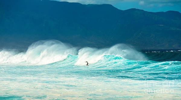 Hookipa Beach Art Print featuring the photograph Lone Surfer by Jamie Pham