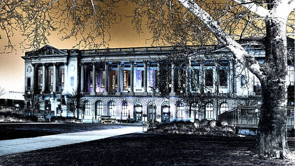 Architecture Art Print featuring the photograph Night At The Library IIi by Robert Culver