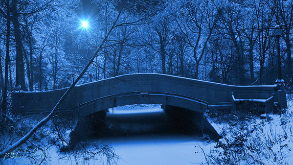 Old Bridge Art Print featuring the photograph Old Winter Bridge by Michael Rucker
