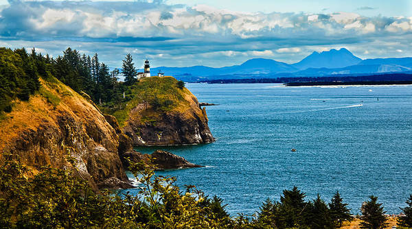 Lighthouse Art Print featuring the photograph Overlooking by Robert Bales