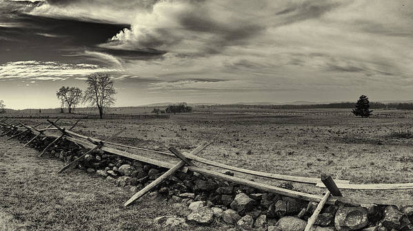 Joshua House Photo Print featuring the photograph Picketts Charge The Angle Black And White by Joshua House