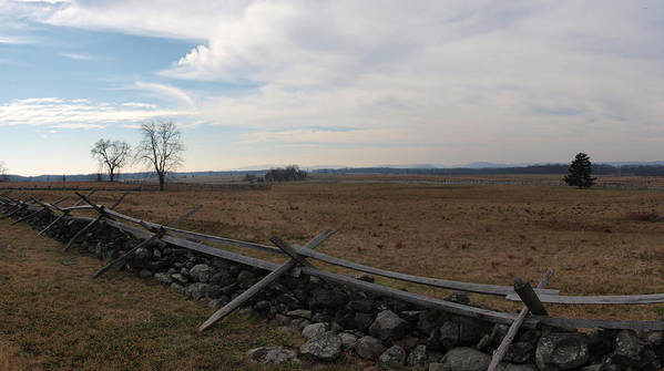 Joshua House Photo Art Print featuring the photograph Picketts Charge The Angle by Joshua House