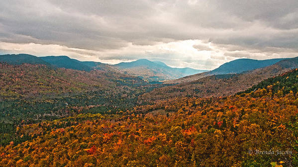 Brenda Art Print featuring the photograph Presidential Range In Autumn Watercolor by Brenda Jacobs