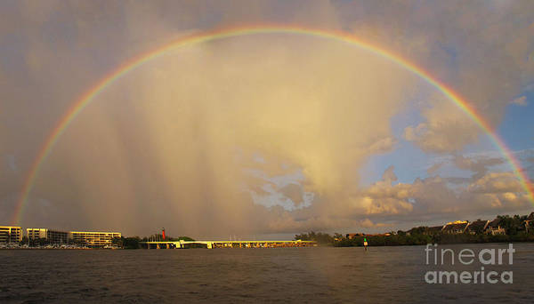 Rainbow Art Print featuring the photograph Rainbow Jupiter Inlet by Bruce Bain