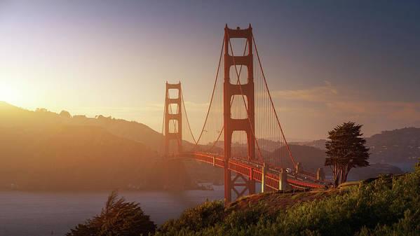Usa Art Print featuring the photograph South Golden Gate. by Juan Pablo De