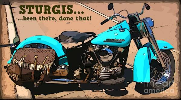 Turquoise Beauty Art Print featuring the photograph Sturgis Motorcycle Rally by John Malone