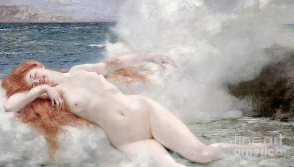 La Naissance De Venus Art Print featuring the painting The Birth Of Venus by Henri Gervex