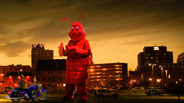 Lobsterman Art Print featuring the photograph The Night Of The Lobster Man by Bob Orsillo