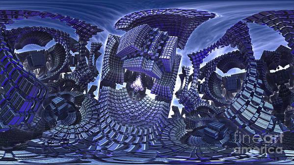 Fractal Art Print featuring the digital art Warp Factor 1 by Jon Munson II