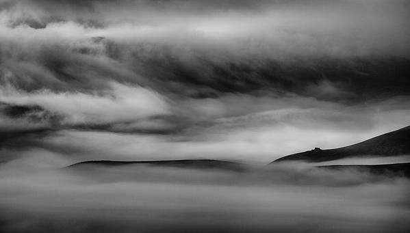 Landscape Art Print featuring the photograph When The Sky Meets The Land by Peter Svoboda, Mqep
