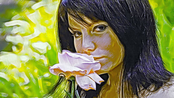 Youthful Art Print featuring the photograph Youthful Rose by Brian Giddings