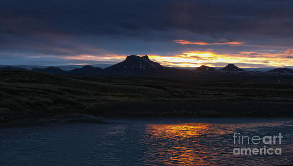 Iceland Art Print featuring the photograph Iceland Midnight Sun by Gregory Dyer