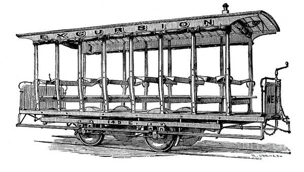 1880s Art Print featuring the photograph American: Streetcar, 1880s by Granger