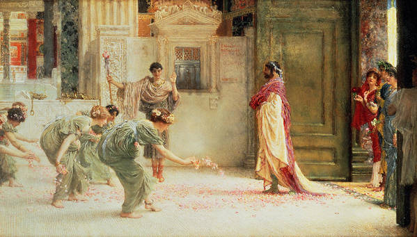 Caracalla Art Print featuring the painting Caracalla by Sir Lawrence Alma-Tadema