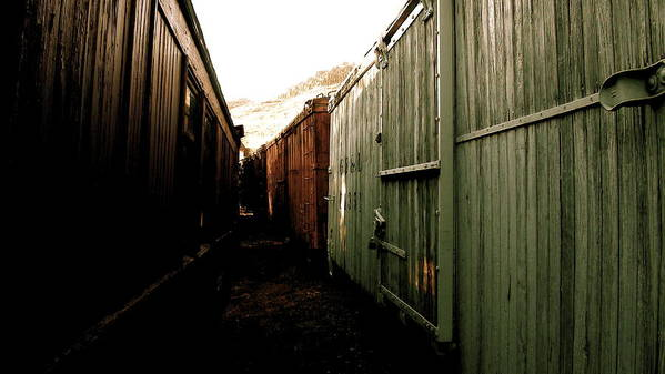 Ghost Art Print featuring the photograph Ghost Train Yard by Travis Burns
