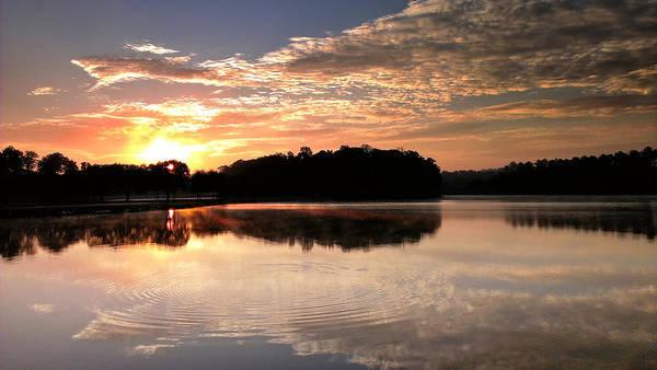 Lake Art Print featuring the photograph Lake Sunrise by Joe Myeress
