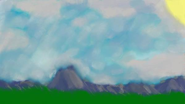 Mountains Art Print featuring the digital art Mountain Mist by Mark Stidham