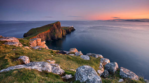 Landscape Art Print featuring the photograph Neist Point by Guido Tramontano Guerritore