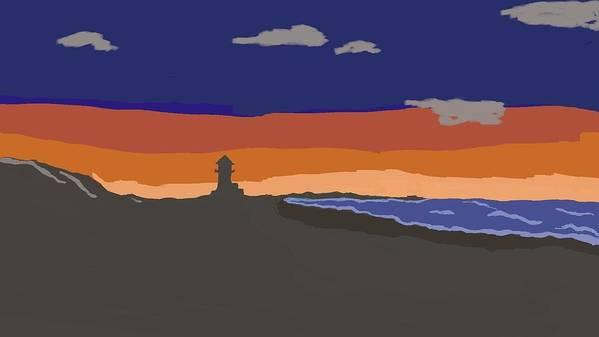 Gigital Art Print featuring the digital art Pastel Sunset by Mark Stidham