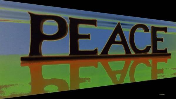 Digital Art Print featuring the digital art Peace-2 by Ines Garay-Colomba