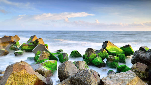 Horizontal Art Print featuring the photograph Seascape by Teni_mr