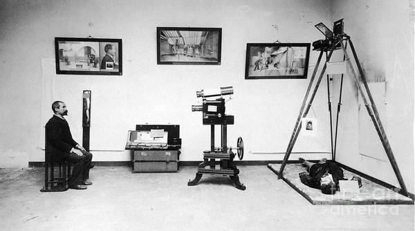 Science Art Print featuring the photograph Surveillance Equipment, 19th Century by Science Source
