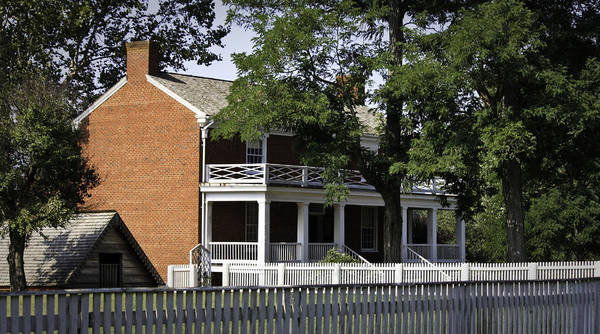 Appomattox Print featuring the photograph The Mclean House In Appomattox Virgina by Teresa Mucha