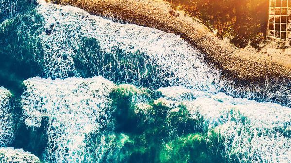 Aerial Art Print featuring the photograph Beach Background by Anna Om