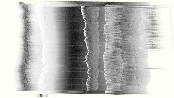 Rithmart Abstract Fade Fading Lines Organic Random Computer Digital Shapes Fading Layers Lines Reflected Art Print featuring the digital art 16x9.162-#rithmart by Gareth Lewis